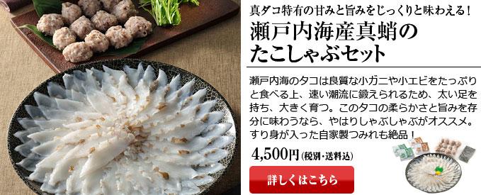 瀬戸内海産真蛸のたこしゃぶセット