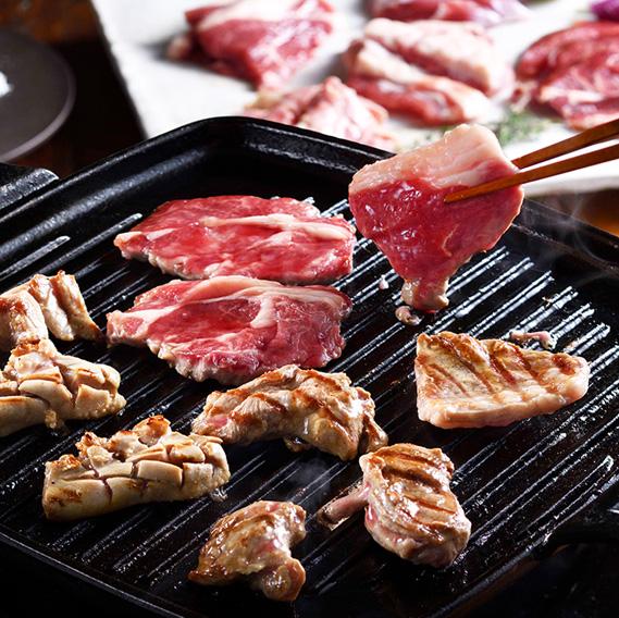 ラム焼肉5種部位の食べ比べ