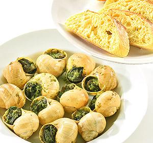 ■送料無料■フランス 殻付きエスカルゴとパンのセット